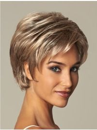 Blonde Wavy Short Sassy Synthetic Wigs, Beshe Synthetic Lace Front Wig Lw 51