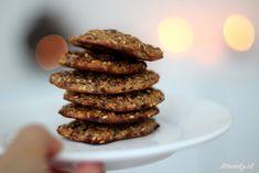 Zachte koekjes met havermout, appel, banaan, honing, lijnzaad etc