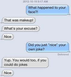 Being proud of your own joke…