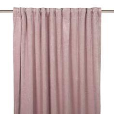Vackra multibandslängder i fin puderrosa nyans. Häng gardinerna i takskena eller på vanlig gardinstång. Finns upp till 2.80 m längder