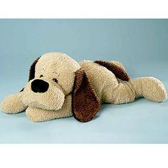Schlaffi-XXL-Plsch-Hund-70cm-liegend-aus-Softplsch-mit-Knopfaugen-und-Gro-Schlappohren-Plschtier-Stofftier-Stoffhund-Kuscheltier