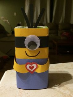 Minion Valentine's juice box
