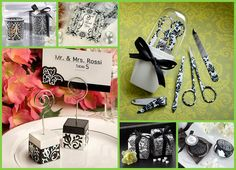 Damask Wedding Party Favors from hotref.com #damask #wedding #party #favors