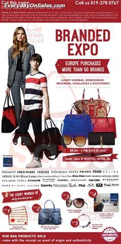 29 Jan-2 Feb 2015: Branded Expo Warehouse Sale Clearance at Novotel Kuala Lumpur