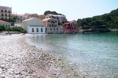 Assos – a Pleasant Retreat on Kefalonia Island, Greece - Travelflee Places Around The World, Around The Worlds, Luxury Villas In Greece, Greek Islands, Beautiful Places, Vacation, Explore, Blues, Handsome