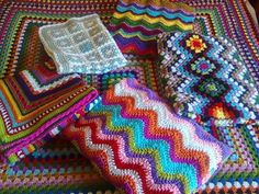 Love the colors with these simple patterns!!