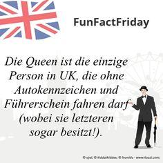#FunFactFriday bei THE BRITISH SHOP: Die Queen ist die einzige Person in UK, die ohne Autokennzeichen und Führerschein fahren darf (wobei sie letzteren sogar besitzt!).