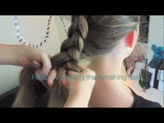 Inverted French Braid Tutorial- turn the volume off though. the music sucks!