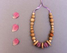 Discs Lavender Nursing Necklace / Teething Toy / Teething Necklace