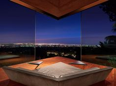 A movie-set favorite—it will look familiar if you've seen The Big Lebowski or Charlie's Angels—the modernist Sheats-Goldstein Residence  is a design darling among architects and celebrities (Rihanna recently celebrated her 27th birthday in the house's attached club). Built on the edge of a canyon in Beverly Crest, the concrete-and-glass masterpiece designed by John Lautner (a Frank Lloyd Wright disciple) offers sweeping views of downtown Los Angeles, and on a clear day, a sightline to the…