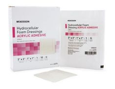 Foam Dressing McKesson 4 X 4 Inch Square Adhesive w/ Border Sterile Case of 100 Drug Packaging, Wound Dressing, Natural Rubber Latex, Acne Free, Drugs, Adhesive, The Cure, Health And Beauty, Moisturizer