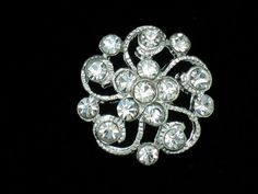 10 Vintage Clear Crystal Rhinestone Buttons by yycraft on Etsy, $7.50