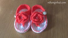 Crochet baby sandals tutorial (engsub)