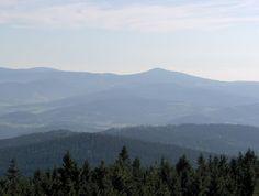 widok z Góry Borówkowej na Czarną Górę