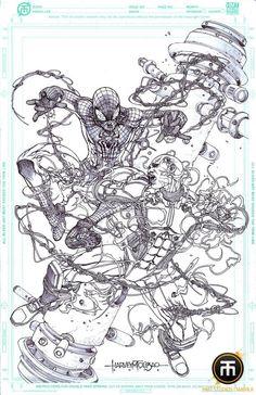 Spider-Man vs Electro by Harvey Tolibao *
