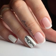18 Beautiful Ideas For French Nails: Fresh Look At A Classical Nail Design French Nails New French Manicure, French Manicure Designs, French Tip Nails, Nail Art Designs, Nails Design, Pedicure Designs, Halloween Nail Designs, Halloween Nails, Natural Gel Nails