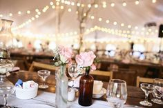 i like the strung lights And the tent