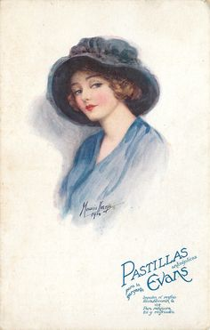 Evans Pharmaceutical Advertising Set Spanish - Marjorie Mostyn Vintage Tags, Vintage Greeting Cards, Vintage Postcards, Victorian Art, Victorian Women, Vintage Pictures, Old Pictures, Divas, Le Jolie