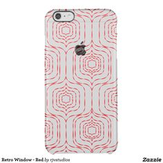 Retro Window - Red Clear iPhone 6 Plus Case