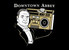 """Carson enjoys his jams.  The first time i didn't pull my hair out over the """"DowntoWn Abbey"""" spelling."""