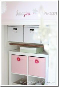 Organizing girls bedroom closet