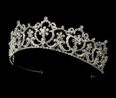 Feel like royalty in this Regal Rhinestone Wedding and Quinceanera Tiara - on sale! Bridal Tiara, Bridal Headpieces, Rhinestone Wedding, Crystal Rhinestone, Quinceanera Tiaras, Quinceanera Dresses, Fairytale Bridal, Wedding Tiaras, Royal Jewels
