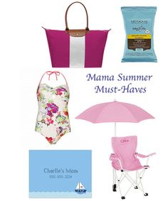 Summer Must-Haves for Moms by Finestationery.com  Boatman Geller Calling Card