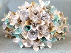 Origami Wedding bouquet made to order bride and by QuirkyProducts