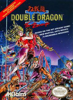 Double Dragon II NES Cartridge Box Art