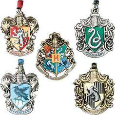 Hogwarts house onaments