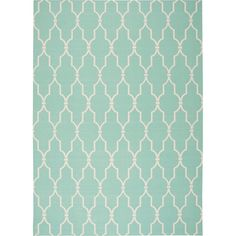 "Nourison Home & Garden Indoor/Outdoor Aqua Rug (5'3"" x 7'5"")"