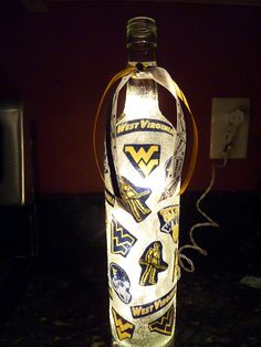 Handmade+Lighted+Wine+Bottle+w/+West+Virginia+by+BottlesbyKaren,+$20.00