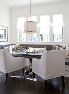 thinking about (long term) adding banquet seating in the dining room, to save space