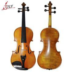 91.69$  Buy here - http://alij6k.shopchina.info/go.php?t=32788465059 - TONGLING Brand Matt 4/4 Violin Natural Stripes Maple Master Hand-craft Antique Professional Violin Musical Instrument+ Bow Rosin  #magazineonline