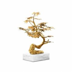 Gold Leafed Bonsai Statue - Mecox Gardens