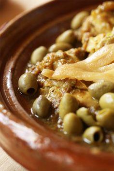 Chicken and olives tajine