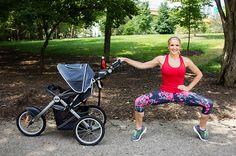 Tip Toe Plie Squat with Stroller