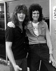 Eddie Van Halen and Brian May. ☀