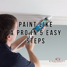 Paint Like A Pro In 5 Easy Steps Before reaching for a paintbrush, follow these paint preparation tips from the experts at DAP. Like A Pro, Home Inspection, Paint Brushes, Easy, Tips, Articles, Painting, Blog, Advice