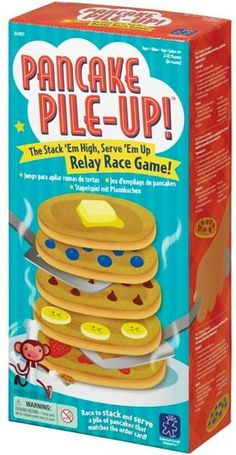 Pancake Pile-Up Relay Game on www.amightygirl.com