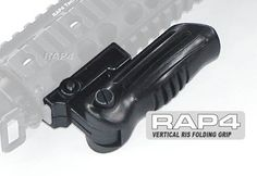 US Army Alpha Black Vertical RIS Folding Grip - paintball grip by Rap4. $17.14. This folding grip is easy to install. It comes with tools and everything you need.
