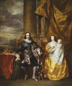 Sir Anthony van Dyck (1599-1641) - Charles I and Henrietta Maria with their two eldest children, Prince Charles and Princess Mary