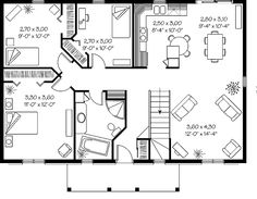 cozyhomeplanscom 432 sq ft small house firefly 3d top view house plans pinterest house plans bedrooms and two bedroom house - Simple House Plan