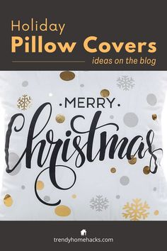 These Merry Christmas pillowcases will look great on any sofa. Find more pillow cover ideas by visiting the blog. #pillowcovers #pillowcases #merrychristmas #gift Buy Pillows, Decorative Throw Pillows, Pillow Set, Throw Pillow Covers, Christmas And New Year, Merry Christmas, Dorm Gifts, Family Room Decorating, Farmhouse Christmas Decor