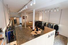 A.P.C. Mulackstrasse store, Berlin. Photo by Christian Tessmer.