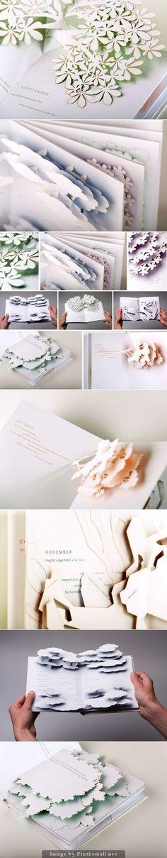 Calendar – Pop-up Poem Book by Éva Somogyi... - a grouped images picture - Pin Them All du papier et des idées
