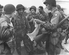 82nd Airborne paratroopers WWII. I have so much respect for the paratroopers! My uncle is alumni of the 82nd airborne!!