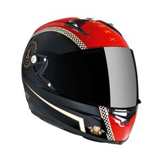 """XR1R CAFE RACER BLACK RED """"The new collection was developed to make your every riding moment enjoyable"""" Full Face Motorcycle Helmets, Full Face Helmets, 2015 Ford Mustang, Helmet Design, Cafe Racer, Black Media, Tech Accessories, Gears, Red Black"""