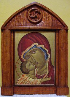 Marco Icono de la Virgen, madera paraíso.