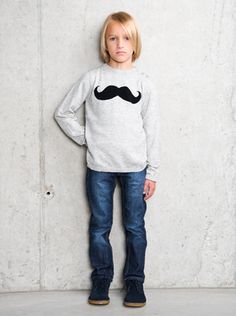 'stache sweater. #moustache